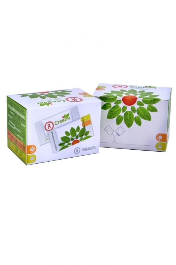 Стевия в пакетиках типа саше 50 шт. в коробке. купить. 1 пакетик равен 2 ч.л. сахара.