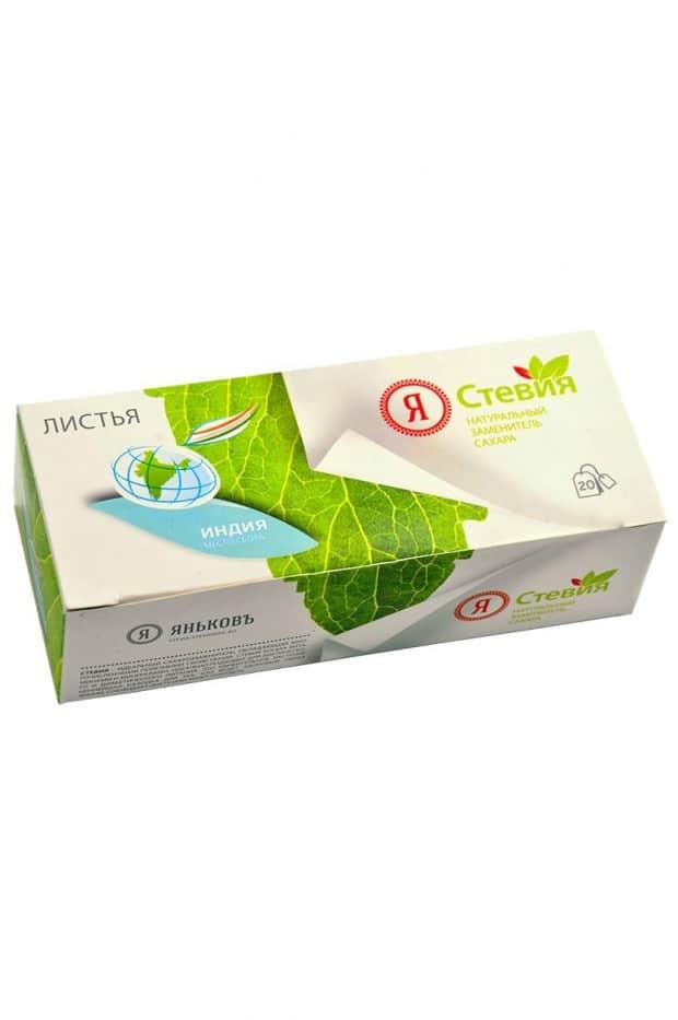 stevia.listya.india  620x933 - Листья стевии Индия в фильтр пакетах 20 шт.