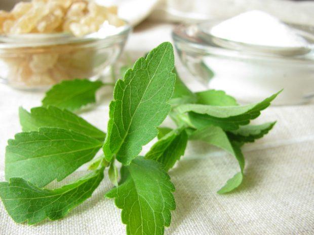 Заменитель сахара стевия в листьях